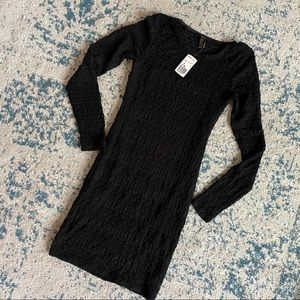 Stretchy black Lacey dress NWT